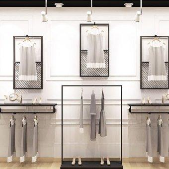 【图】北京不锈钢整体服装展示架制作|价格|厂家